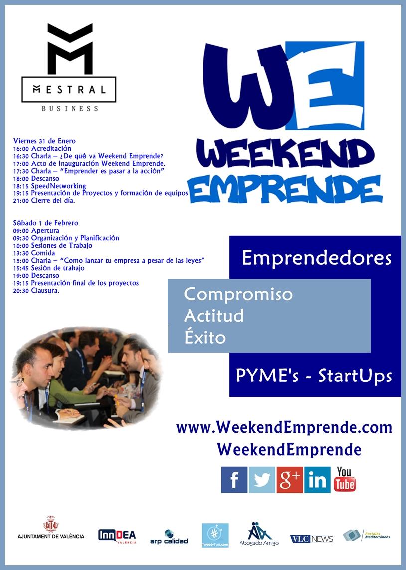 Weekend Emprende en Valencia… ¡ya esta aqui!